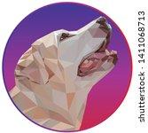 portrait of beige labrador... | Shutterstock .eps vector #1411068713