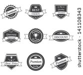 retro and vintage labels vector | Shutterstock .eps vector #141108343