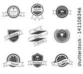 retro badge vector | Shutterstock .eps vector #141108346