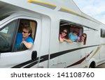 family vacation  rv  camper ...   Shutterstock . vector #141108760