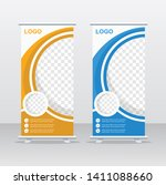 banner roll up design  business ... | Shutterstock .eps vector #1411088660