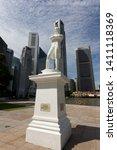 singapore   april 6th 3017 ... | Shutterstock . vector #1411118369
