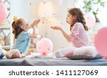 funny time. children are... | Shutterstock . vector #1411127069