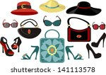 fashion collection | Shutterstock .eps vector #141113578