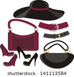 fashion collection | Shutterstock .eps vector #141113584