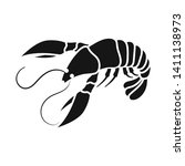 isolated object of lobster and... | Shutterstock .eps vector #1411138973