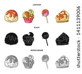 vector design of confectionery... | Shutterstock .eps vector #1411139006