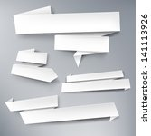 white vector paper banners for... | Shutterstock .eps vector #141113926
