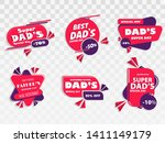 happy father's day badges and... | Shutterstock .eps vector #1411149179