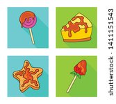 vector design of confectionery... | Shutterstock .eps vector #1411151543