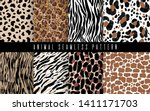 seamless animal abstract...   Shutterstock .eps vector #1411171703