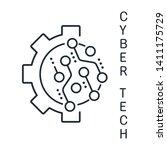 cybernetic technology. vector... | Shutterstock .eps vector #1411175729