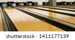 bowling wooden floor with lane  ... | Shutterstock . vector #1411177139