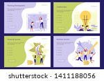 team of young people are...   Shutterstock .eps vector #1411188056