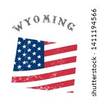us state with flag wyoming | Shutterstock . vector #1411194566