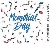 memorial day celebration design ... | Shutterstock .eps vector #1411217060