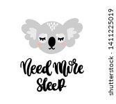 hand drawn lettering phrase ... | Shutterstock .eps vector #1411225019