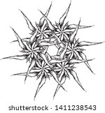 drawing for a tattoo drawn with ... | Shutterstock .eps vector #1411238543
