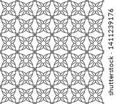 seamless monochrome interlaced... | Shutterstock .eps vector #1411239176