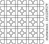 seamless monochrome interlaced... | Shutterstock .eps vector #1411239179
