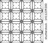 seamless monochrome interlaced... | Shutterstock .eps vector #1411239200