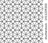 seamless monochrome interlaced... | Shutterstock .eps vector #1411239203
