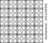seamless monochrome interlaced... | Shutterstock .eps vector #1411239206