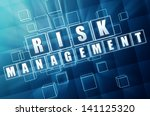 risk management   text in 3d... | Shutterstock . vector #141125320