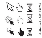 Set Of Flat Modern Cursor Icons
