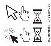 set of flat modern cursor icons   Shutterstock .eps vector #1411254719