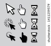 set of flat modern cursor icons   Shutterstock .eps vector #1411259579