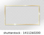 shiny gold frame with glow... | Shutterstock .eps vector #1411260200