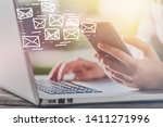 email marketing and newsletter... | Shutterstock . vector #1411271996