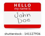 Red Tag My Name Is  John Doe