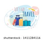 promotional banner with cartoon ... | Shutterstock .eps vector #1411284116