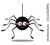 Cute Smiling Black Spider...