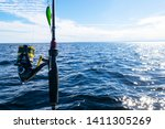 fishing rod spinning ring with... | Shutterstock . vector #1411305269