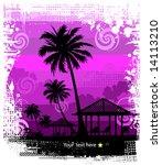 summer background  tropical sun ... | Shutterstock .eps vector #14113210