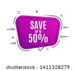 speech bubble banner. save up... | Shutterstock .eps vector #1411328279