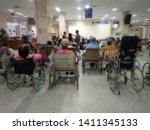 waiting zone for wheelchair... | Shutterstock . vector #1411345133