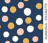big random dotes seamless...   Shutterstock . vector #1411362773