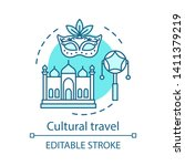 cultural travel concept icon.... | Shutterstock .eps vector #1411379219