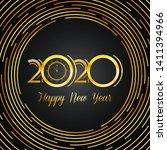 golden 2020 design with happy...   Shutterstock .eps vector #1411394966
