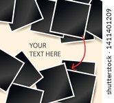 square photo frames on a bright ... | Shutterstock .eps vector #1411401209