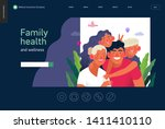 medical insurance template ...   Shutterstock .eps vector #1411410110