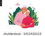 medical insurance template ... | Shutterstock .eps vector #1411410113