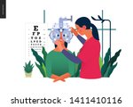 medical tests template   eye... | Shutterstock .eps vector #1411410116
