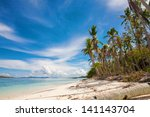 beautiful tropical beach | Shutterstock . vector #141143704