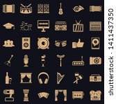 song icons set. simple style of ... | Shutterstock .eps vector #1411437350
