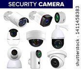 video surveillance security... | Shutterstock . vector #1411458383